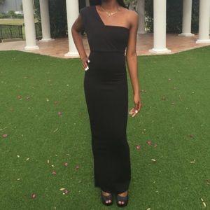 prettylittlething black dress